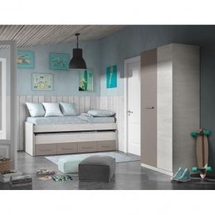 Dormitorio juvenil completo Ares