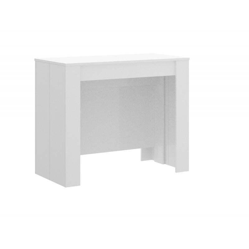 Mesa consola extensible blanca