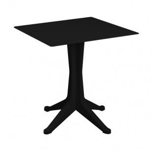 Mesa Ponente fija color negro exterior e interior 4 patas. Sayez