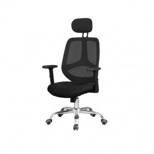Silla de oficina y escritorio Soul. Color negro, ergonómica, cómoda y muy barata. Sayez