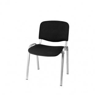 Silla confidente Iso color negro, muy cómoda y barata, ideal salas de espera.