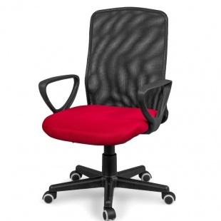 Silla de oficina y escritorio Coco color rojo, cómoda, ergonómica y barata. Sayez