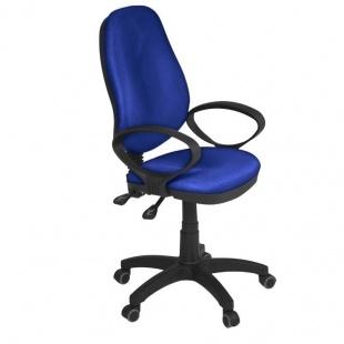 Silla de oficina y escritorio Támesis color azul, cómoda, ergonómica y barata. Sayez
