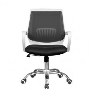 Silla de oficina y escritorio Trend, blanca y negra, cómoda y barata. Sayez