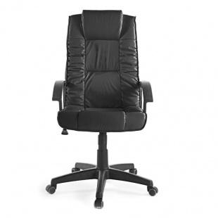 Silla de oficina y escritorio Turín negra elegante, cómoda y barata. Sayez