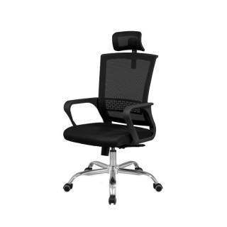 Silla de oficina y escritorio Maxx negra, cómoda, ambiente elegante y barata. Sayez