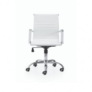 Silla de oficina y escritorio Lucy blanca elegante y cómoda. Sayez