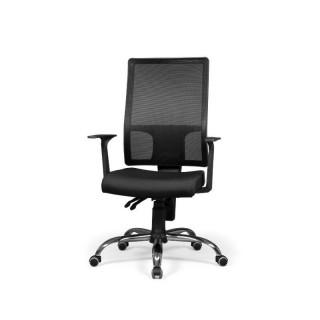 Silla de oficina Taktik color negro cómoda y confortable barata. Sayez