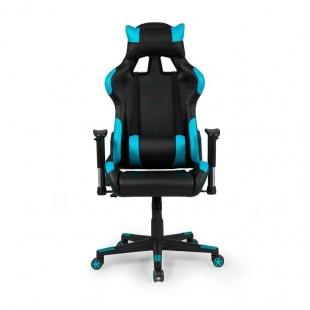 Silla de oficina gaming Silverstone negra y azul, ergonómica y cómoda a buen precio. Sayez