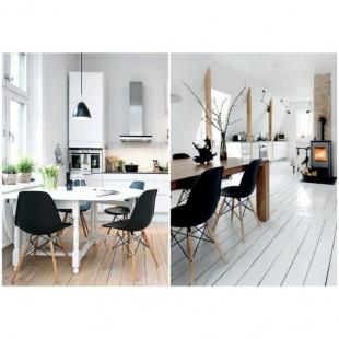 Silla Tower wood Nordica Negra