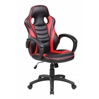 Silla escritorio gaming negra y roja