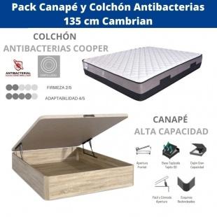 Pack Canapé y Colchón Antibacterias 135x190 cm Cambrian
